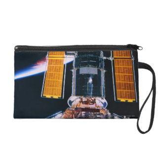 Satellite Launching from Space Shuttle Wristlet Purse