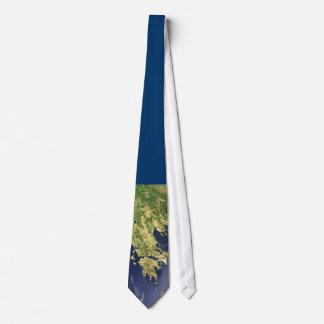 satellite map peloponnese greece blue - tie corbata