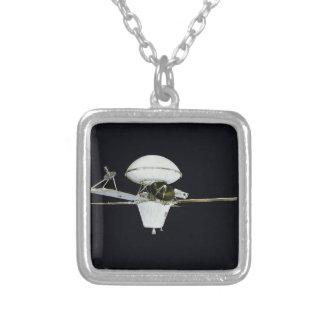Satellite Orbit Square Pendant Necklace