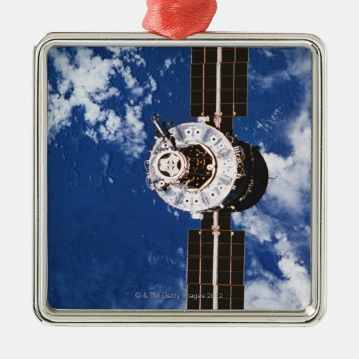 Satellite Orbiting Earth 2 Christmas Tree Ornaments