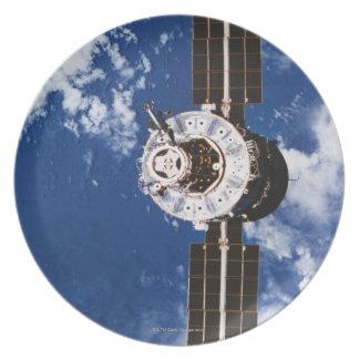 Satellite Orbiting Earth 2 Plate