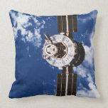 Satellite Orbiting Earth 2 Throw Pillows