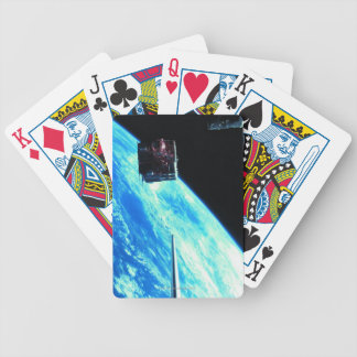 Satellite Orbiting Earth 3 Bicycle Playing Cards