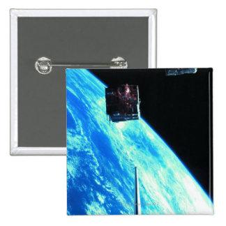 Satellite Orbiting Earth 3 Pinback Button