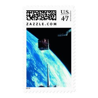 Satellite Orbiting Earth 3 Postage