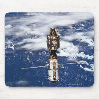 Satellite Orbiting Earth 4 Mouse Pad
