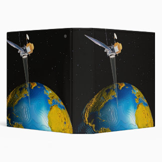 Satellite Orbiting Earth 6 Binder