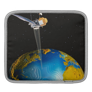 Satellite Orbiting Earth 6 iPad Sleeve