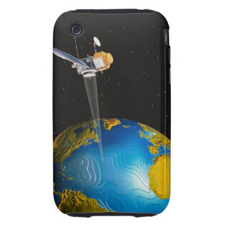 Satellite Orbiting Earth 6 iPhone 3 Tough Case