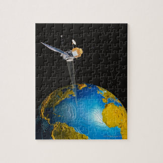 Satellite Orbiting Earth 6 Jigsaw Puzzle