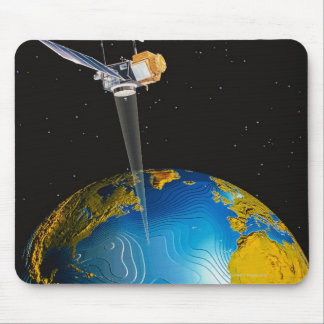 Satellite Orbiting Earth 6 Mouse Pad