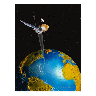 Satellite Orbiting Earth 6 Postcard