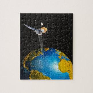 Satellite Orbiting Earth 6 Puzzle
