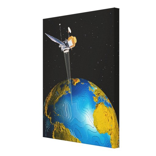 Satellite Orbiting Earth 6 Stretched Canvas Print