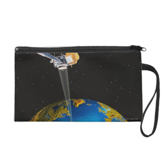 Satellite Orbiting Earth 6 Wristlet Purse