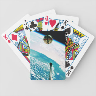 Satellite Orbiting Earth 7 Bicycle Playing Cards