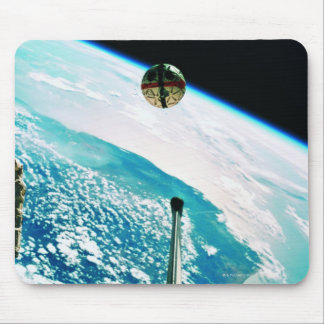Satellite Orbiting Earth 7 Mouse Pad