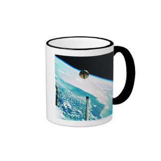 Satellite Orbiting Earth 7 Ringer Coffee Mug