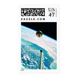 Satellite Orbiting Earth 7 Postage