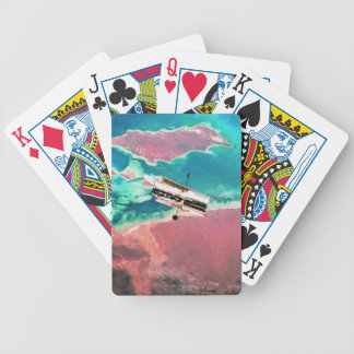 Satellite Orbiting Earth 8 Bicycle Playing Cards