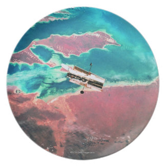 Satellite Orbiting Earth 8 Plate