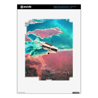 Satellite Orbiting Earth 8 Decal For iPad 3