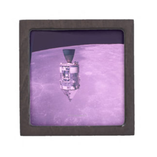 Satellite Orbiting Earth Jewelry Box