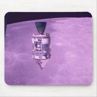 Satellite Orbiting Earth Mousepads