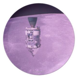 Satellite Orbiting Earth Dinner Plates