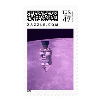 Satellite Orbiting Earth Postage