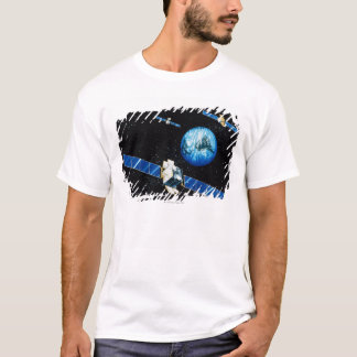 Satellite orbiting earth T-Shirt