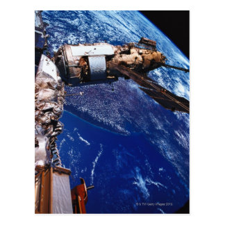 Satellite Orbiting in Space 2 Postcard