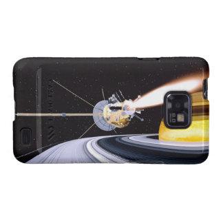 Satellite orbiting Saturn Samsung Galaxy S2 Case