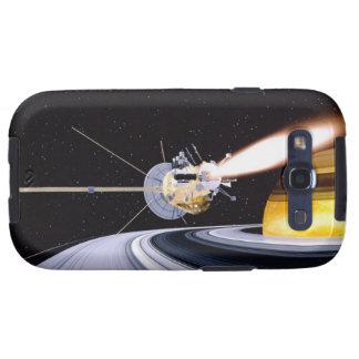 Satellite orbiting Saturn Samsung Galaxy S3 Cases