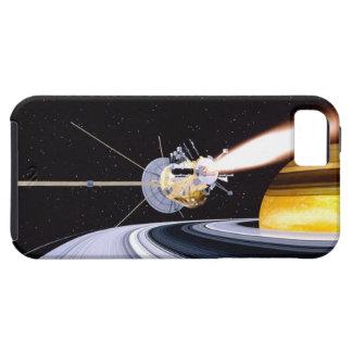 Satellite orbiting Saturn iPhone SE/5/5s Case