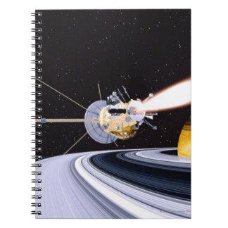 Satellite orbiting Saturn Notebooks