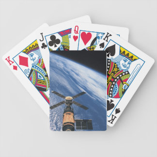 Satellite Orbiting Space Bicycle Playing Cards