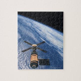 Satellite Orbiting Space Jigsaw Puzzle