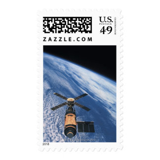 Satellite Orbiting Space Stamps