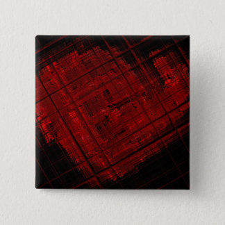 Satellite Stained Glass in Blood Red Pinback Button