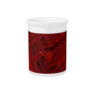 Satellite Stained Glass in Blood Red Pitcher