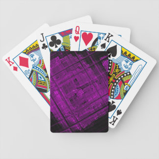 Satellite Stained Glass in Vibrant Purple Bicycle Playing Cards