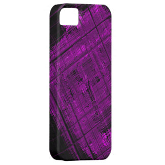 Satellite Stained Glass in Vibrant Purple iPhone SE/5/5s Case