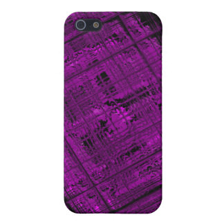 Satellite Stained Glass in Vibrant Purple iPhone SE/5/5s Cover