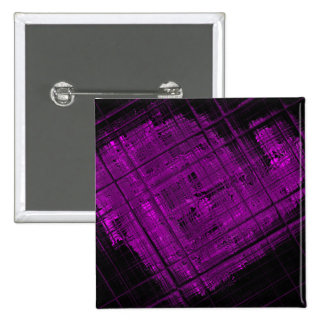 Satellite Stained Glass in Vibrant Purple Pinback Button