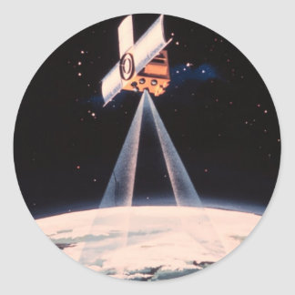 Satellite Triangulation Classic Round Sticker