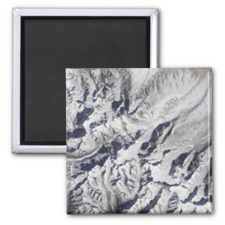 Satellite view of a Himalayan glacier Fridge Magnet