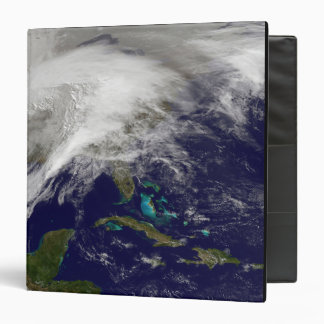 Satellite view of a massive winter storm binders