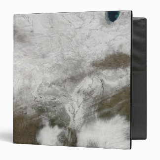 Satellite view of a severe winter storm 3 ring binder