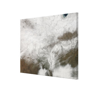 Satellite view of a severe winter storm canvas prints